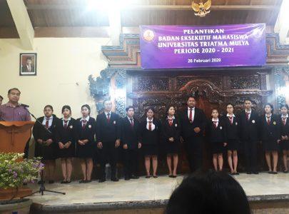 Universitas Triatma Mulya Melaksanakan Pelantikan BEM (Badan Eksekutif Mahasiswa) Periode 2020/2021