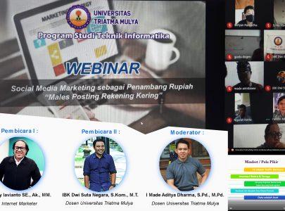 Webinar Program Studi Teknik Informatika Dengan Tema Social Media Marketing Sebagai Penambang Rupiah